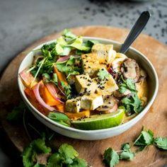 Lemongrass Coconut Noodle Soup