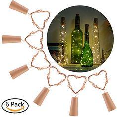 $39.99  - CCAT Bottle LightsPack of 6 Wine Bottle Cork Lights Copper String Lights 40 Inch 20 LED Starry Light for Bottle DIY Party Warm White *** Visit the image link more details. (This is an affiliate link) #LightingCeilingFans