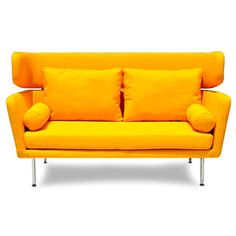 Winged Mid-century Sofa | Overstock.com Shopping - Great Deals on Sofas & Loveseats