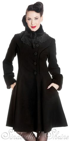 Hell Bunny warm winther coat 2013 collection.