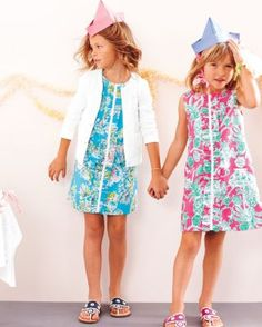 Ruffle-Front Little Lilly Shift Dress by Lilly Pulitzer® - Baby Girls & Girls, I bet I could make this, very cute
