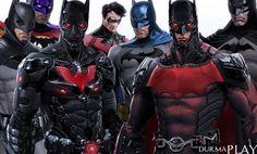 http://www.durmaplay.com/News/batman-icin-yeni-kostumler-geliyor   Ingiliz video oyun sirketi Rocksteady Studios Unreal Engine 3 oyun motoru üzerinde hazirladigi, Warner Bros  etiketiyle de 23 Haziran 2015 tarihinde oyuncularla bulusturulan serinin dördüncü oyunu Batman Arkham Knight için yayimlanmasi planlanan bir sonraki genisleme paketine özel Batman kostümleri basina sizdirildi