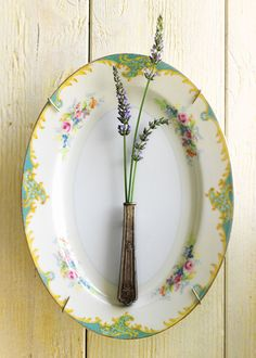 china platter with hollow knife handle vase