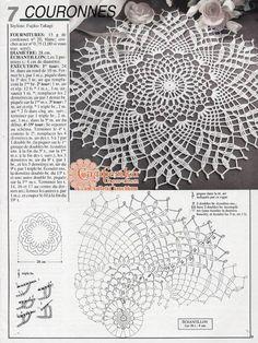crochet doilies Kira scheme crochet: Scheme crochet no. Crochet Doily Rug, Crochet Doily Diagram, Crochet Dollies, Filet Crochet Charts, Crochet Doily Patterns, Macrame Patterns, Thread Crochet, Crochet Designs, Crochet Table Topper
