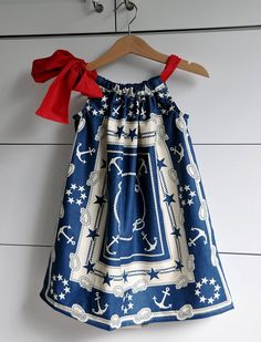 Super cute pillowcase dress.  Sailor?