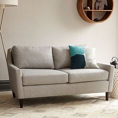 Everett Loveseat, Heathered Tweed, Charcoal At West Elm - Couches - Sectionals - Living Room Furniture Modern Home Furniture, Sofa Furniture, Living Room Furniture, Rustic Furniture, Deco Furniture, Furniture Ideas, Urban Furniture, Painting Furniture, Outdoor Furniture