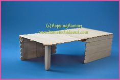 Popsicle stick bridge.such a great idea for hamsters or other things...