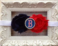 Boston Red Sox MLB  Red and Navy  Baby by MyLilSweetieBoutique, $9.95