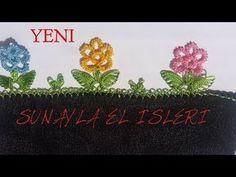 İğne Oyası çiçek yazma modeli yapılışı anlatımlı needle art - YouTube