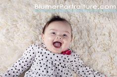 Happy Baby!    {Blumer Portraiture | Mt. Pleasant, MI  Photographer}  www.blumerportraiture.com