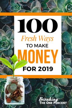 100 Fresh ways to make money from home in 2019. Earn More Money, Earn Money Online, Make Money Blogging, Online Jobs, Saving Money, Money Tips, Money Hacks, Money Fast, Work From Home Jobs