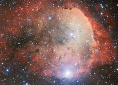 A Estrambólica Arte = ciência + tecnologia + arte: Imagem estrambólica no espaço - nebulosa com forma...