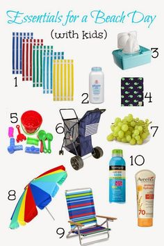 Packing for 5 day beach vacation. Fold the harder cloth inside the luggage including blazers, skirts, cotton shirts and so forth to keep them in a excellent condition. Get journeying easier for you making use of these recommendations. Beach Kids, Beach Fun, Beach Trip, City Beach, Baby Beach Tips, Beach Supplies, Beach Hacks, Beach Bonfire, Beach Essentials