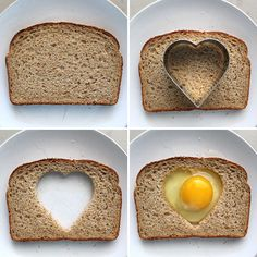 Egg-in-Hole (or basket) -- I like using the heart cutter instead of a circle; such a nice touch to start the day. EASY recipe from Pioneer Woman Cooks
