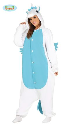Blue Unicorn Onesie - Adult Costume - Fancy Dress - Parties & More Snuggle up in this blue unicorn onesie fancy dress costume! Unicorn Onesie Adult, Unicorn Fancy Dress, Star Wars Shop, Blue Wings, Joko, Cute Characters, Color Azul, Adult Costumes, Rain Jacket
