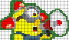 Despicable Me Minion Perler Bead Pattern / Bead Sprite