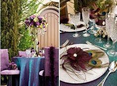 purple peacock theme
