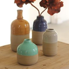 Take a walk on the wild side this summer and pluck some flowers from your hike. Bring them home to keep the summer spirit alive and slip one into each of these vases.  Find the Four Corners Vases, as seen in the Mountain Retreat Collection at http://dotandbo.com/collections/mountain-retreat?utm_source=pinterest&utm_medium=organic&db_sku=90213