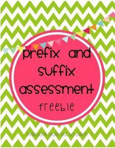 Prefix and Suffix Assessment Freebie!