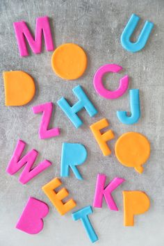 DIY Alphabet Magnets (made with polymer clay, magnets, and alphabet cookie cutters)