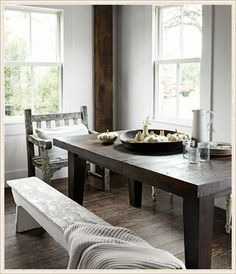table bench and chair