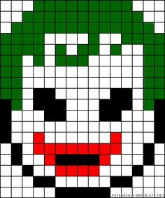 Joker face perler bead pattern