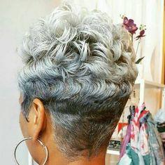 Short Sassy Hair, Short Grey Hair, Short Hair Cuts, Short Gray Hairstyles, Love Hair, Gorgeous Hair, Pixie Cut, Curly Hair Styles, Natural Hair Styles