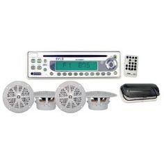 929de62f45 PYLE PLCD6MRKT Waterproof Marine AM FM CD Player Receiver with 4 x 5.25-