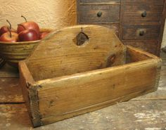 Sweet and Simple Old Primitive Wooden Candle Wall Box ~ JUST LISTED