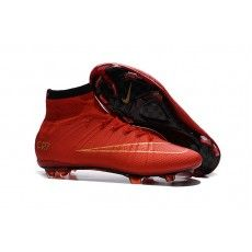 online store a66b9 62beb Billige Fodboldstøvler - udsalg fodboldstøvler med sok online! Nike  Mercurial Superfly CR7 FG Fodboldstøvler Rød