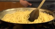 How to make pasta in a fry pan - skip the boiling water and make perfectly cooked pasta this way!