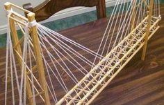 Toothpick Suspension Bridge – Garrett's Bridges: Resources to Help You Build a Model Bridge Physics Projects, Science Projects For Kids, School Projects, Kid Projects, Bridge Model, Bridge Structure, Paper Bridge, Wood Bridge, Popsicle Stick Bridges
