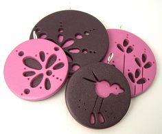 be nice in felt for coasters (not the pattern just the technique) - Cut-out Group by Rebecca Geoffrey, via Flickr