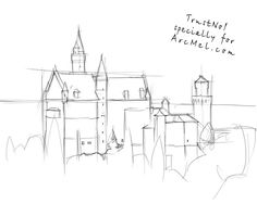 How to draw Castle step 2