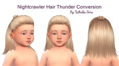 Sims 4 CC's - The Best: Toddlers Hair by Nathalia Sims