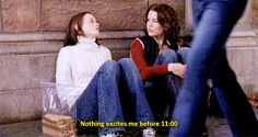 """When Rory had to wake up early for a college football game: The 25 Best Lines From Rory Gilmore On """"Gilmore Girls"""" Rory Gilmore, Gilmore Girls Quotes, Girl Gifs, Freshman, Life Lessons, Lessons Learned, Laughter, Tv Shows, Hilarious"""