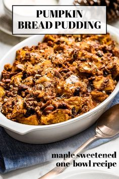 This Pumpkin Bread Pudding recipe is made with challah, pumpkin puree, cinnamon, and simple ingredients. The perfect easy dessert for fall. #pumpkin #breadpudding #pumpkinpudding #pumpkinrecipe #foolproofliving Pumpkin Custard, Pumpkin Pudding, Pumpkin Chocolate Chip Bread, Pumpkin Bread, Pumpkin Puree, Challah, Pudding Recipe, Pumpkin Dessert, Canned Pumpkin