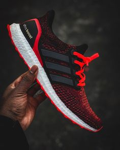 "Today's Kicks ""I'm a twisted fire starter"" Ultraboost / Solar Reds - 📷 . Women's Shoes, New Shoes, Shoe Boots, Shoes Sneakers, Cheap Adidas Shoes, Adidas Sneakers, Futuristic Shoes, Adidas Nmd, Adidas Boost"