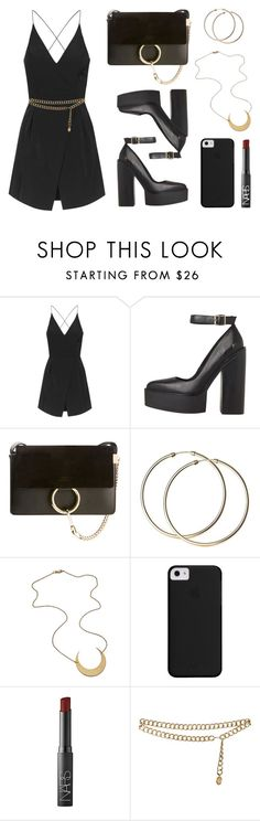 """""""Moon"""" by baludna ❤ liked on Polyvore featuring mode, Topshop, Chloé, NARS Cosmetics et Chanel"""