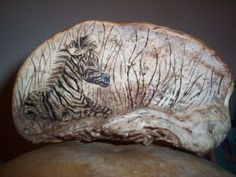 zebra pyrography on Artist Conk