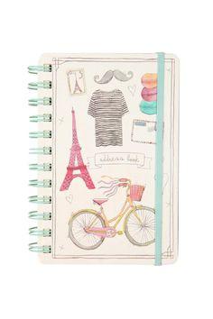 address book | Typoshop www.typoshop.com.au #french #frenchy #bastille #paris #eiffel