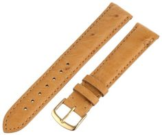 Hadley-Roma Men's MS2003RAJ180 18-mm Brown Genuine Ostrich Leather Watch Strap -- Details can be found by clicking on the image.