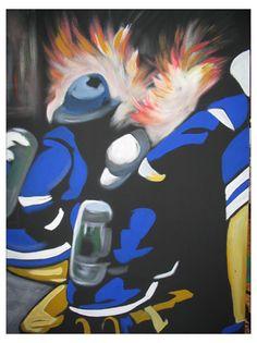 Fireman Painting by Tanya Garland