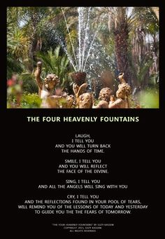 """""""THE FOUR HEAVENLY FOUNTAINS"""" ― Suzy Kassem poetry."""