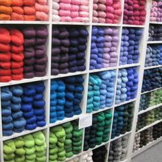 Love the wall of Cascade 220 yarn when it's fully stocked. http://www.yarn.com/product/webs-knitting-yarns-cascade-220/