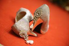 Trousseau! Golden Heels! Kundan! Pearls! Bridal ! Pretty