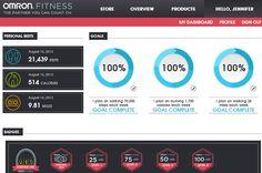Omron Dashboard - @Omron Fitness @Mamavation Sistahood #omronpedometer #mamavation