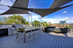 Bright coolaroo shade sail in Patio Contemporary with Deck Shade next to Shade Sail alongside Roof Terrace and Shade Patio Structures