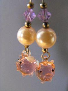 Flying Pig Earrings!