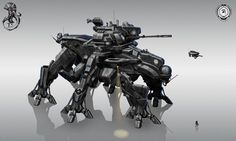 Heavy Battle Walker, used to transport troops/mechs and provide fire support. Description from forum.nationstates.net. I searched for this on bing.com/images